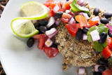 Black Bean Salsa Veggie Burger