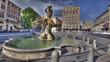 Roma, piazza Barberini, fontana del Tritone