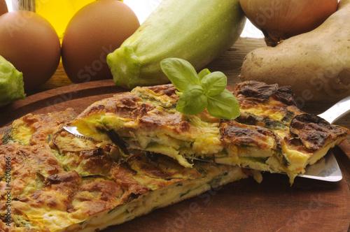 煎蛋与节瓜 Frittata alle zucchine Omelette with zucchini