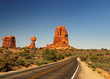 The Balanced rock at arches national park