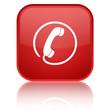 """""""Hotline"""" icon square red button"""