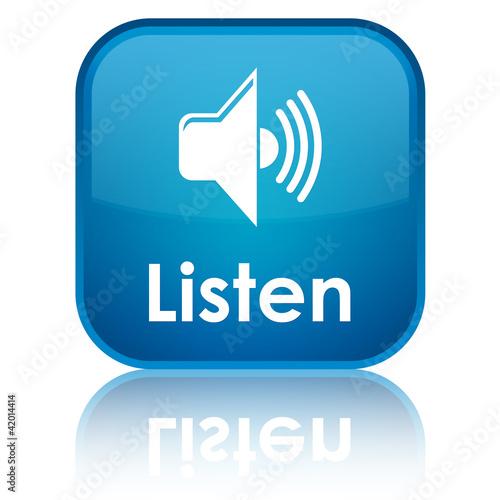 Listen blue button