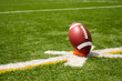 American Football teed up for kickoff
