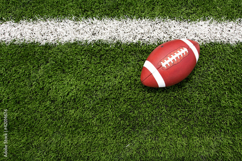 Papiers peints Jogging American Football on the Field