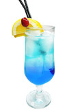 alcohol blue lagoon cocktail drink