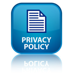 """Privacy Policy"" blue button"