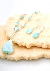 Larimar jewelry set