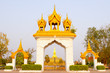 Golden pagada in Wat Pha-That Luang, Vientiane, Laos.