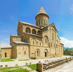 panorama of old Orthodox cathedral church