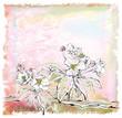 sketch of apple tree in bloom