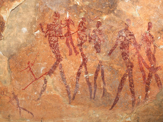 Bushmen rock painting, South Africa
