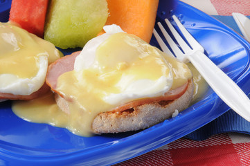 Eggs Benedict Closeup