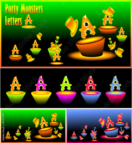 Letter  A and Party monster letters A