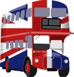 British Union Jack Flag Bus