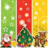 Santa Claus banner with friends and shaft poster