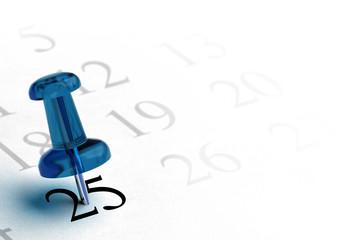 agenda, fixer une date importante, 25 décembre
