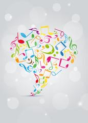 affiche bulle de dialogue-musique