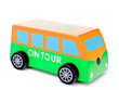 Leinwandbild Motiv Little wooden toy bus