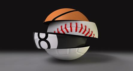 Segmented Fragmented Round Sports Ball