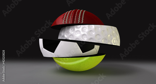 Segmented Fragmented Round Sports Ball