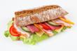 Baguette mit Salami und Schinken