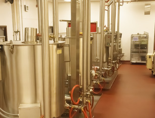 Chocolate Vats in a Factory