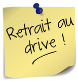 post-it ; retrait au drive