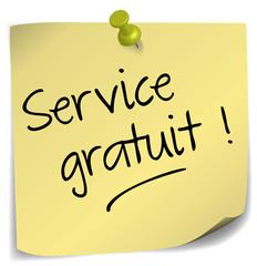 post-it ; service gratuit