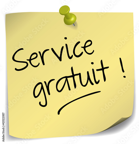 post-it ; service gratuit