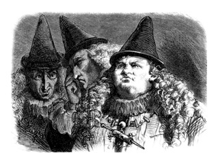 3 Ridiculous Men - 16th-17th century