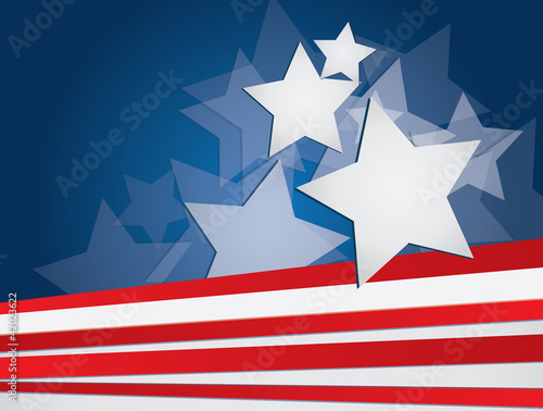 flag of usa vector background