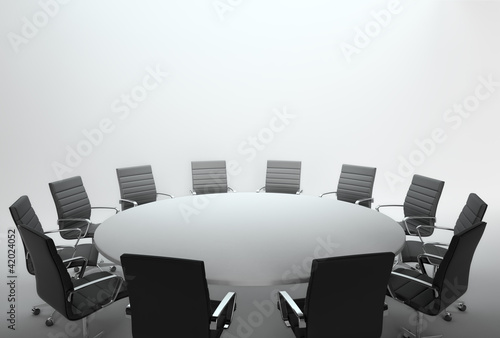 Empty meeting room and conference table