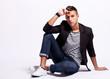 seated fashion male model