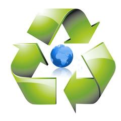 Recyclage planète bleue