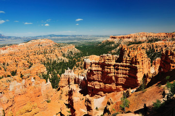THe beautiful view of Bryce canyon national park