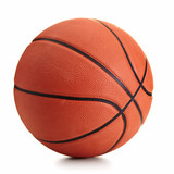 Fototapety Basketball ball over white background