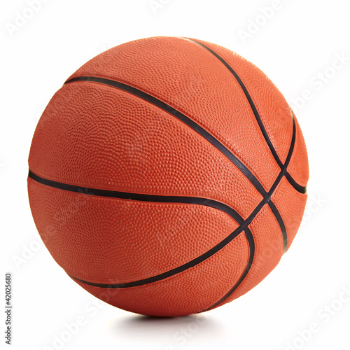 Basketball ball over white background - 42025680