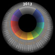 Vector calendar 2013 with color ring