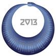 Vector calendar 2013 Snake year