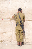 Israel military man praying The Western Wall Jerusalem Palestine