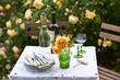 Garden table setting