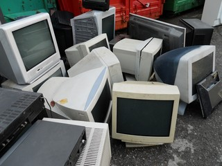 Computer landfill for electronic recycling