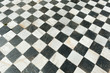 Ancient checkered floor
