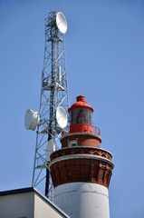 Le phare d'Ault-Onival, Manche,Baie de Somme