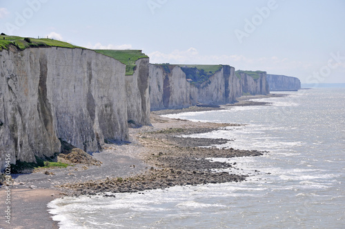 les dernières falaises avant la baie de Somme