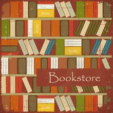Weinlese-Buchhandlung Hintergrund