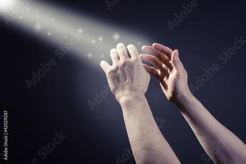 Prayer raised hands