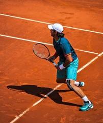 Match de tennis sur terre battue