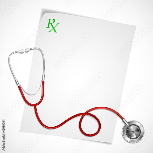 Stethoscope on Prescription