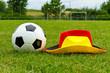 Fussball und Deutschlandhut